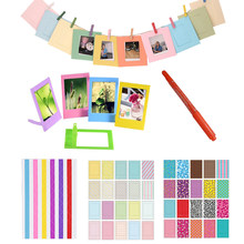 Marker Pen + Color Stickers + Photo Frames For Fujifilm Instax Mini 8 7s 9 25 50 70 90 Kitty Instant Camera SP-1 & Films Paper(Hong Kong,China)