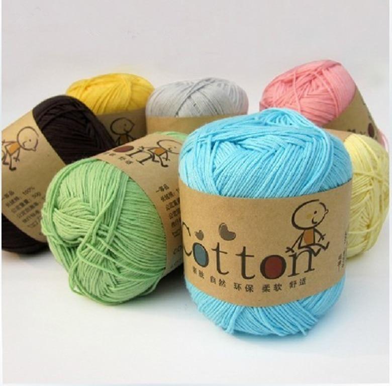 Knitting Patterns Baby Cotton Yarn : Aliexpress.com : Buy 100% Cotton thread yarn baby yarn baby line for hand Kni...