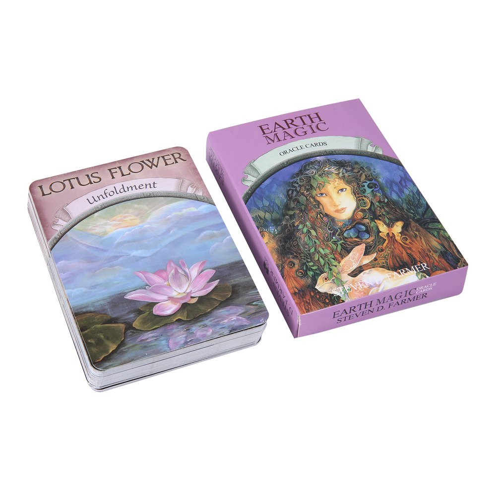 Magic Oracle Cards Earth Magic:read Fate Tarot Card Game For Personal Use Board Game A 48-card Deck And Guidebook