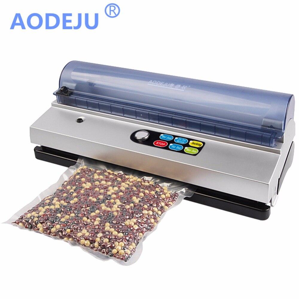 Aodeju 220 V/110 V hogar sellador al vacío de alimentos máquina de envasado Películas vacío del sellador incluye kit Bolsas dz-320d