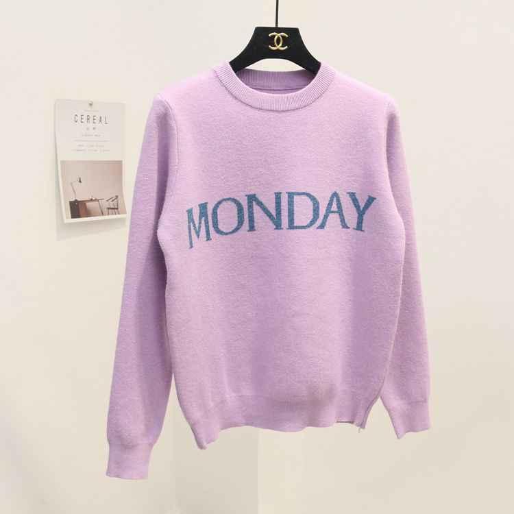 אופנה נשים בשבוע אחד סוודרי שיק סריגת Jumper סוודר מסלול שני השלישים רביעי חמישי שישי שבת יום ראשון