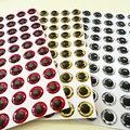 Смешанный три цвета  2017new fishing 3d глаза для приманки  выбрать размер quatity:600 шт./лот