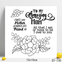 AZSG I love you mom Clear Stamps/Seals For DIY Scrapbooking/Card Making/Album Decorative Silicon Stamp Crafts
