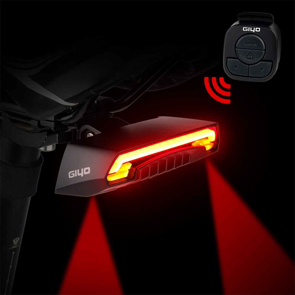 Laser Bike Taillight Waterproof LED Safety Warning Light Bicycle MTB Road Bike Rear Light Tail Lamp