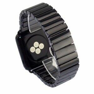 Image 3 - Pasek ceramiczny dla pasek do apple watch 38mm 42mm 40mm 44mm inteligentny bransoletka do zegarka ceramiczny linki pasek do zegarka iwatch serii 5 4 3 2 1