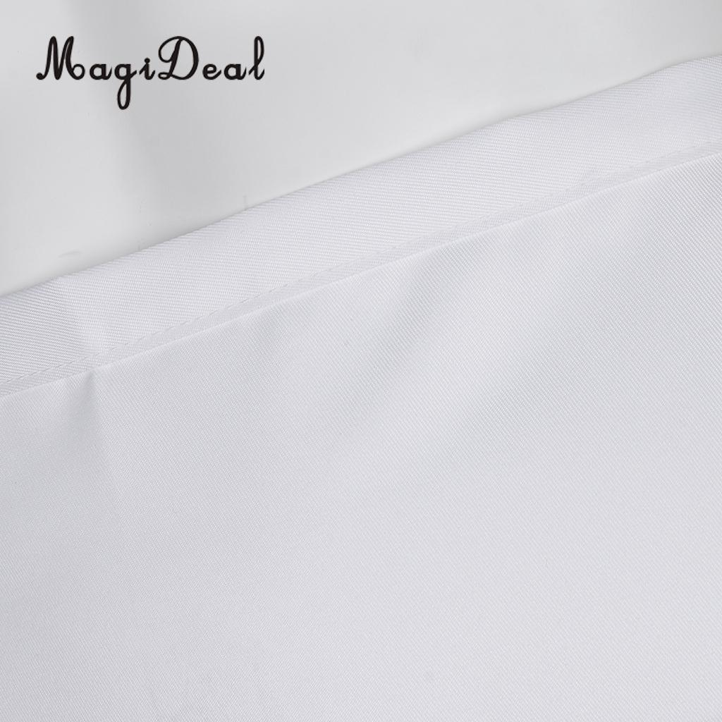 MagiDeal Kitchen Half Length Waist Apron Catering Chef Hotel Waiter Apron White
