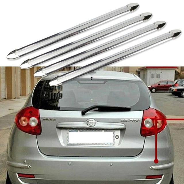 4pcs Car body bumpers Decoration Car Crash Bar Anti-Rub Bumper Protection automotive exterior trim Accessories Styling Mouldings