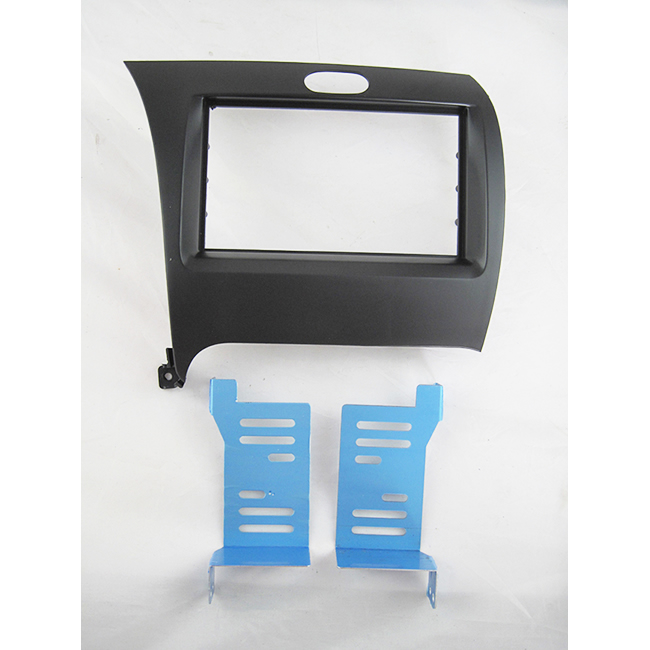 Free shipping-Car refitting DVD frame,DVD panel,Dash Kit,Fascia,Radio Frame,Audio frame for 2012 KIA K3,2DIN (Chinese) #CA1016  2 din car refitting frame panel for jaguar s