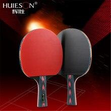 6e3e657c9 Huieson 5 Estrela de Carbono Raquete De Tênis De Mesa Conjunto 2 pcs  Atualizado Profissão Formação Poderoso Ping Pong Paddle Bat.