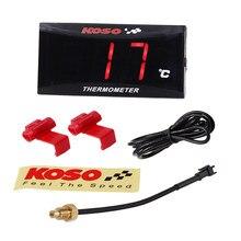Termômetro digital para motocicleta, medidor de temperatura da água à prova d' água koso com display de led e voltímetro rpm para yamaha nmax