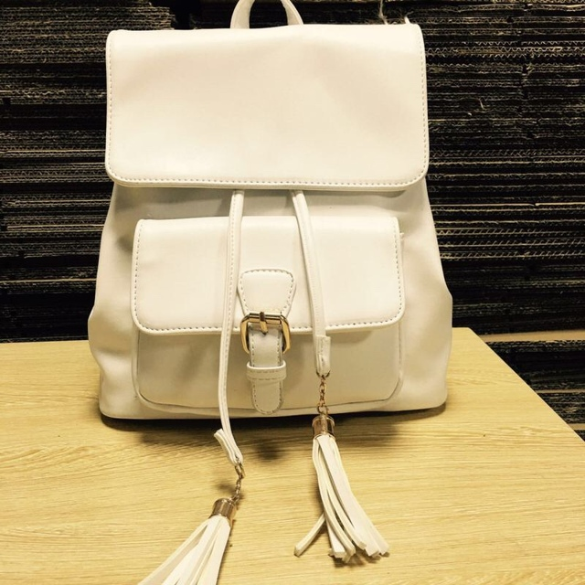 2016 Fashion Brand Women Travel Bag Women's Pu leather backpack women black white backpacks for teenage girls school Backpacks