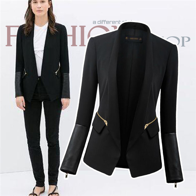 Images of Womens Black Blazer - Reikian