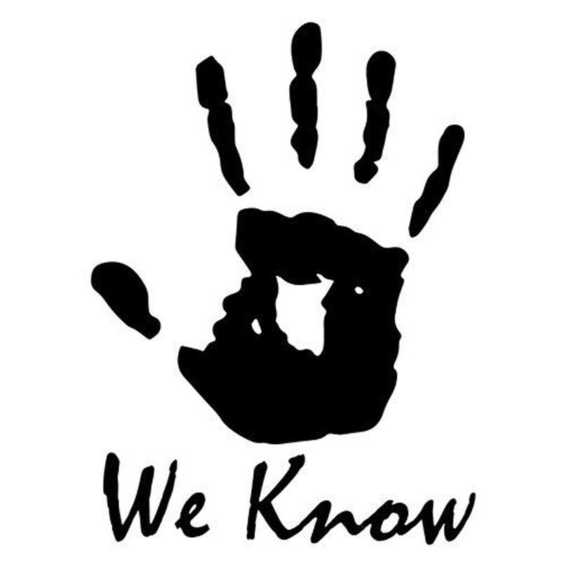 8 9cm 12cm Skyrim We Know Sticker Vinyl Dark Brotherhood