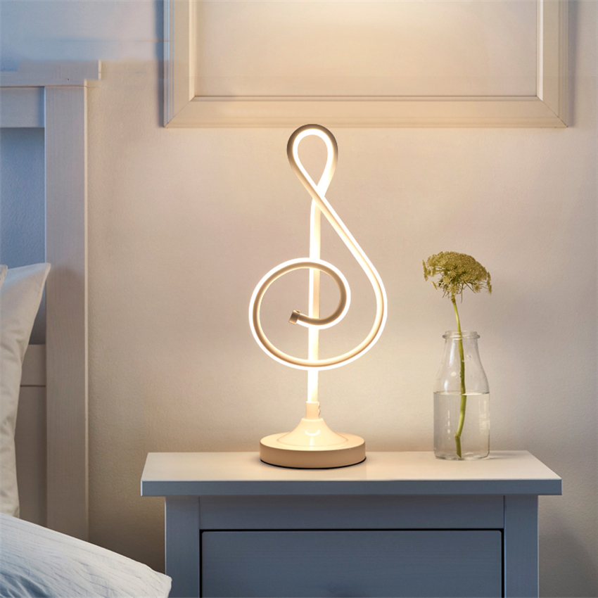 Modern LED Table Lights Loft Note Acrylic Table Lamp Bedroom Bedside Lighting Decorative Lamps Living Room Desk Lamps Deco Light in LED Table Lamps from Lights Lighting