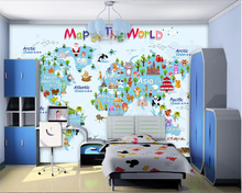 beibehang Modern individuality decorative painting stereo fashion 3d wallpaper retro map background wall papers home decor