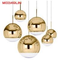 Nordic Modern Globe Glass Pendant Lamp Silver Gold Color For Dinning Room Living Room Kitchen Light Home Decoration Lighting E27