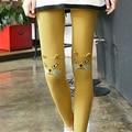 Moda Cute Cat Impreso Leggings Mujeres Pantalones de Primavera Lindo Algodón de La Muchacha de Las Polainas de Las Mujeres Ropa de 5 Colores
