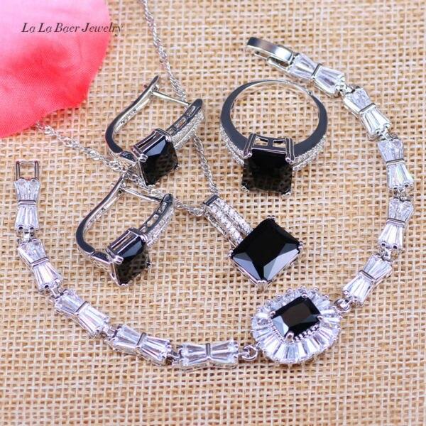 L&B West Style Black Zircon 925 Logo Silver Color Ws