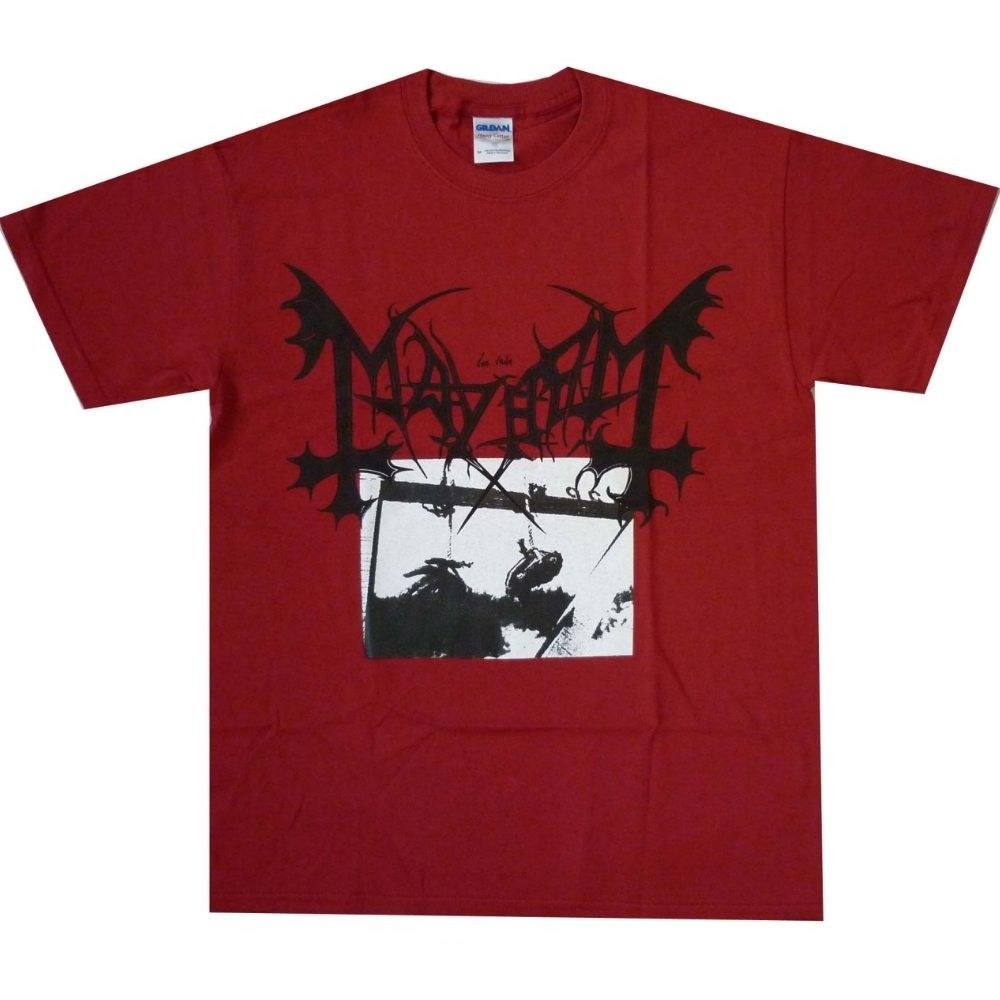 MAYHEM Deathcrush Official Merchandise New /& Taille Métal Noir T-Shirt Homme Rouge
