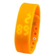 SZ LGFM New Waterproof Movement Health Pedometer Sleep Monitoring Smart Bracelet Watches orange