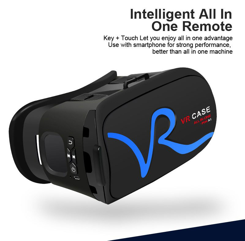 All IN ONE VR Glasses VR CASE RKA1 VR Headset Virtual Reality Glasses for 4-5.8 inches iPhone Mobile 3D IMAX Touch Control Blue 9