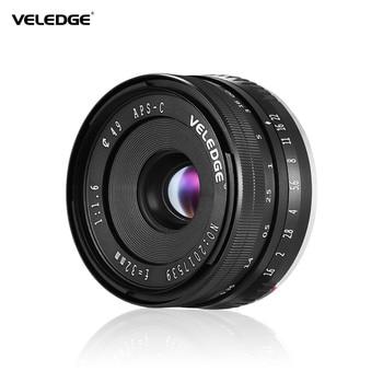 VELEDGE 32mm F/1.6 Large Aperture Manual Focus Lens APS-C for Sony E-Mount Digital Mirrorless Cameras NEX 3/NEX 3N/A5000 Camera
