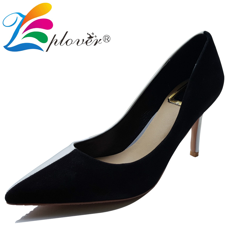 2018 high heels women wedding shoes pointed toe genuine leather shoes women pumps thin heels shoes woman fashion zapatos muje 2016 woman high heels pumps thin heel women s shoes pointed toe high heels wedding shoes brand fashion shoes