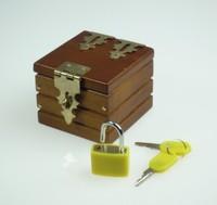 Mini Locked Box (Miracle Box) Free shipping paper mache mask,magic tricks,fire,props,comedy,Ring