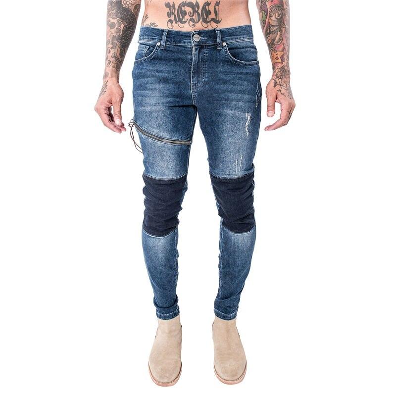 Pour Nouvelle Zipper Haute Jeans Hommes Ripped Genou Denim 2017 Arrivée Difficulté Slim Qualité Marque Mode En Skinny Designer Cosmama De Biker Du ZZSgqExH