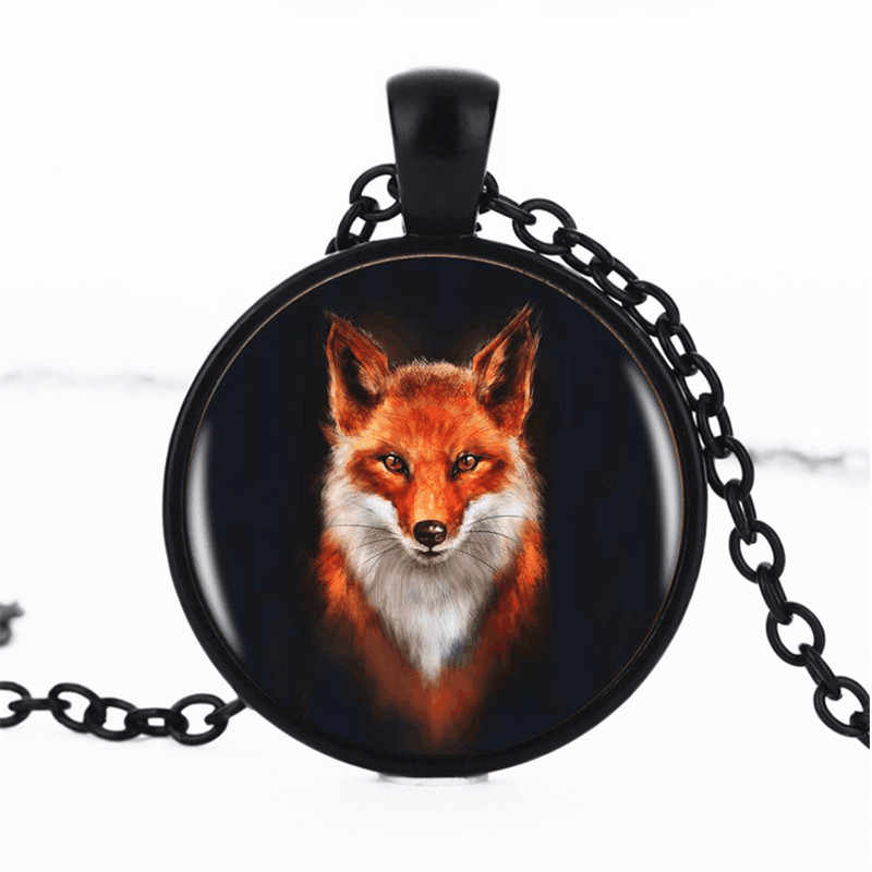 VERDVE wholesale 2018 fox fashion crystal glass pendant sweater chain necklace jewelry
