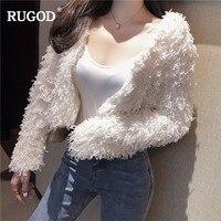 RUGOD New Short Women Jacket Coat Solid Long Sleeve Jacket Casual Slim Women Outerwear Warm Winter Wear chaqueta mujer