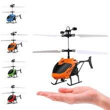 Mini Drone RC Avião Helicóptero Indução Gesto Automático De Proteção de Energia CONDUZIU A Luz Do Flash Brinquedo Sem Controle Remoto