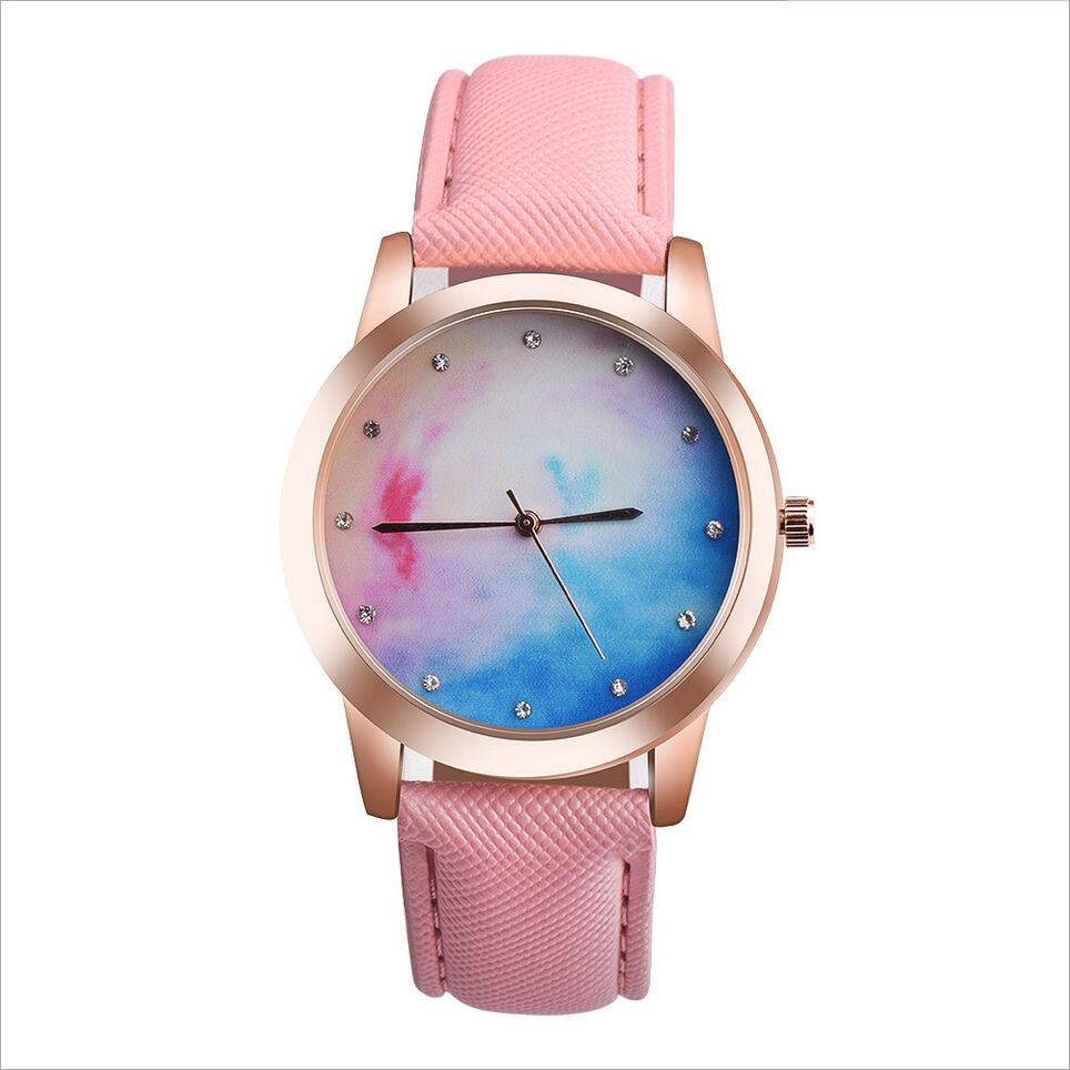 2017 New Ladies gift hit color creative dial Changing simple fashion for young peoples quartz watches relogio masculino 2017 men s gift enmex unique design leather creative dial changing patterns simple fashion for young peoples quartz watches