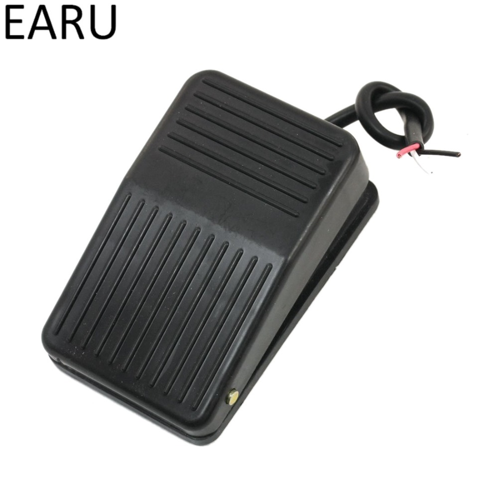1pc Hot SPDT Nonslip Metal Momentary Self-rest Electric Power Foot Pedal Switch Push Button Switch Security Alarm Good Quality 1pc spst momentary soft touch push button stomp foot pedal electric guitar switch m126 hot sale