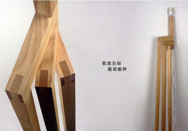 Creative Wood Floor Lamp Modern Japanese Style Garden Living Room