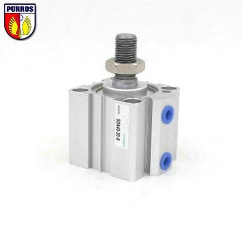 ФОТО SDA100-B Compact Cylinder, Bore: 100mm, Stroke: 60/70/80/90/100mm