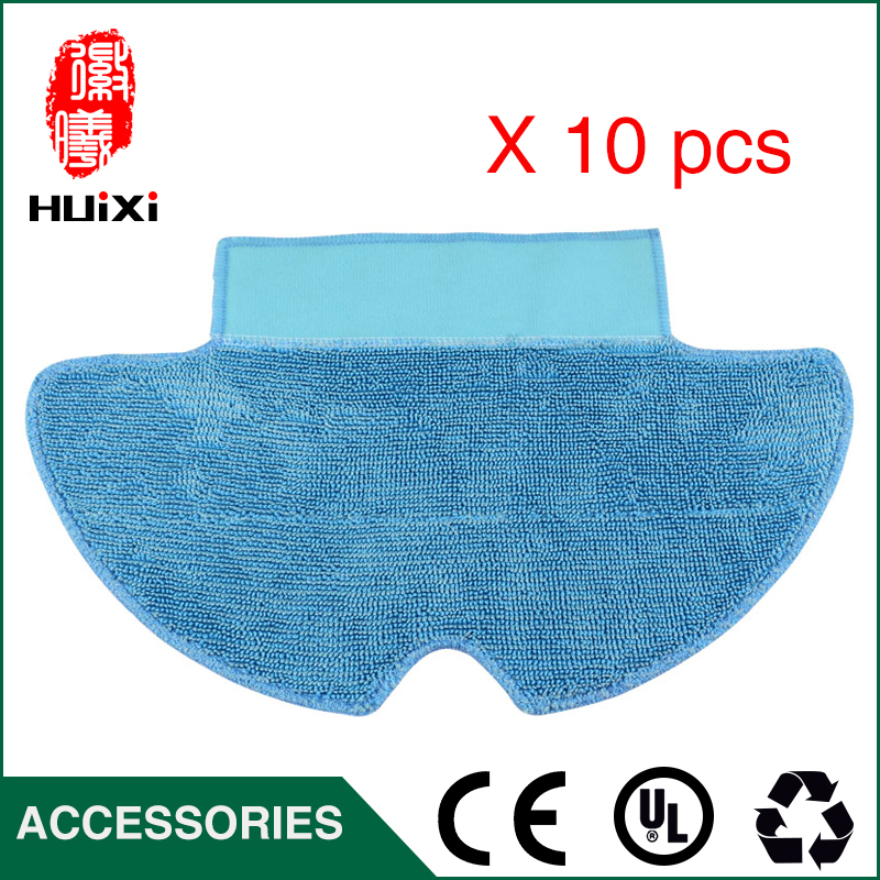 10pcs Cleaning Dishcloth High-efficiency Reuseable Mop Cloth for SWR-T320 5108 Robotic Vacuum Cleaner Parts free shipping multifunctional smart vacuum cleaner for home sweep vacuum mop sterilize lcd touch button schedule virtual wall