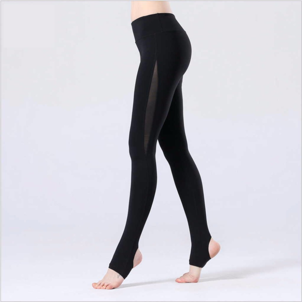 High Quality Slim Autumn Stitching design Women Yoga Legging Slim Sport Wear Sexy Running tights Gym fitness Stirrup Pants ayopanda 2017 new yoga pants women leopard printed fitness gym sports legging quick dry workout trousers hot sale running tights