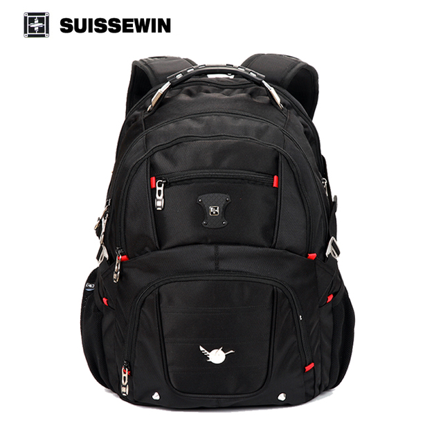 Suissewin Pegasus Quality Laptop Bag Men Double Shoulder Travel Backpack Military 15 16