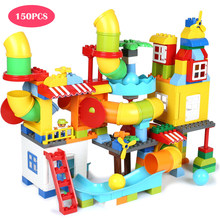 150Pcs DIY Building Blocks Bricks Educational Toys Large Size Pipeline Construction Kids Toys Compatible With Legoed Duplo Block(China)