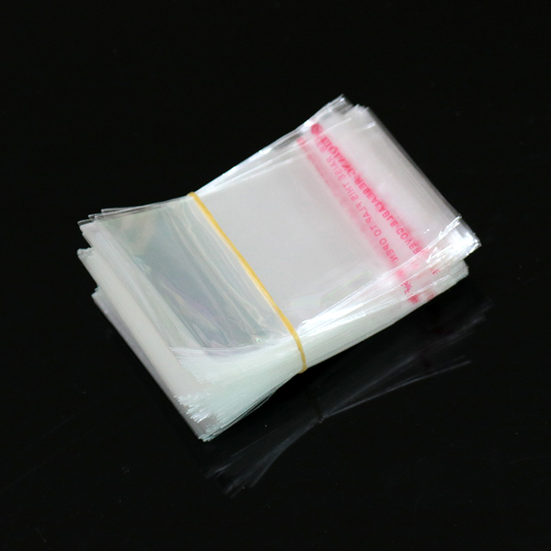 Supplies Plastic Candy Bag Seal Pouch Self Adhesive Pocket Transparent Package