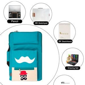 Image 3 - Bolsa de arte para niños de 8K, conjunto de pintura para tablero de dibujo A3, bolsa de dibujo de viaje para pintura en lienzo, suministros de arte para niños, mochila de artista