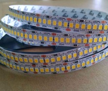 2835 SMD 240leds/m DC24V led flexible strip;5m long;240W;white PCB;non-waterproof;IP33
