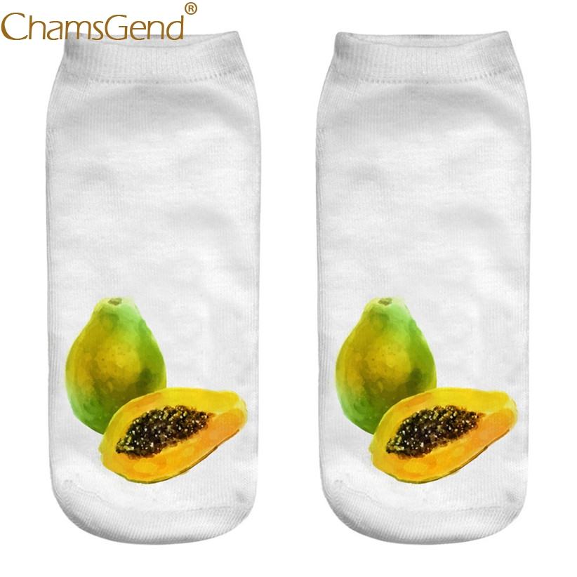 Chamsgend Socks Drop Shipping Pawpaw Printi Women Cotton Socks Drop Shipping 80402