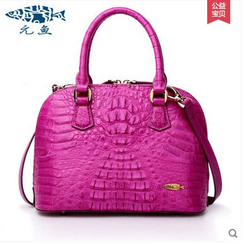 yuanyu women Crocodile handbag single shoulder bag leather shell bag fashion handbag small crocodile grain aslant hand women bag delin foreign female bag bag handbag shoulder aslant crocodile grain lady handbags package a undertakes the new trend