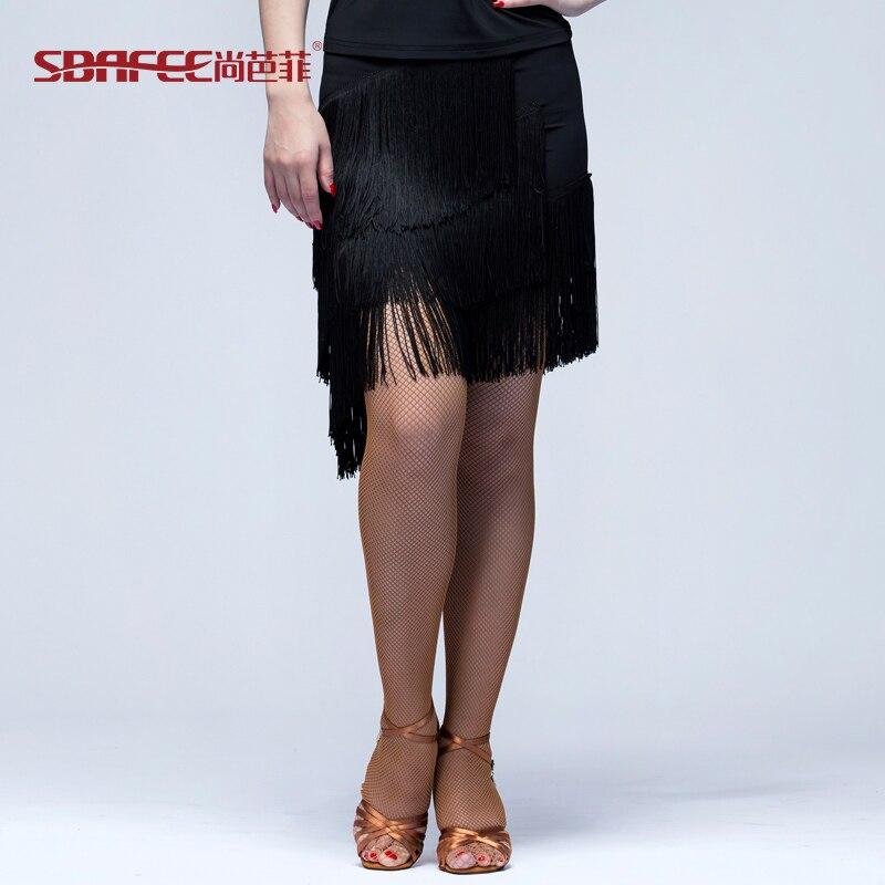 ballroom dance skirt tassel dress