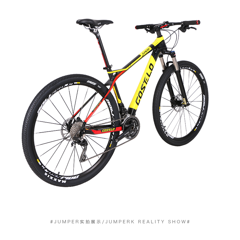 HTB1bj1 XdrJ8KJjSspaq6xuKpXaU - 27.5/29inch carbon fiber mountain bicycle Pneumatic shock 30/ 33 velocity carbon fiber body light-weight Cross nation weapon MTB
