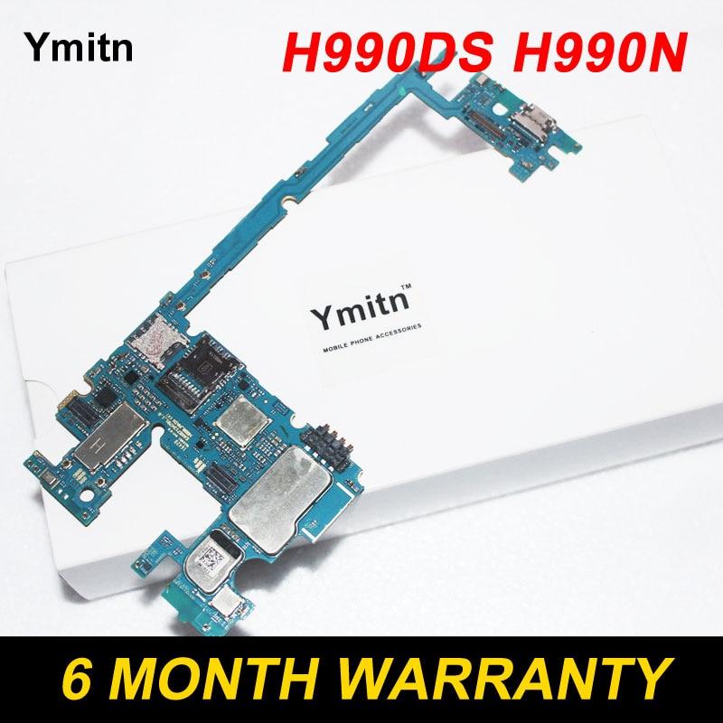 Ymitn Travail Bien Débloqué Électronique Panneau V20 Carte Mère Carte Mère flex Câble Double Sim MB Pour LG V20 H990DS H990N 4 + 64 gb