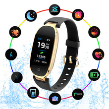TOP S3 Smart Wristbands Fitness Bracelet Heart Rate Monitor Fitness Bracelet Band Gift to Lady Women for IOS Android Phone PK H7 haiom new wristbands smart band heart rate monitor fitness bracelet w3 waterproof smart band bluetooth for ios android phone