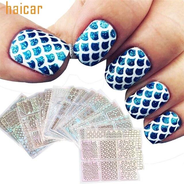 C809 HAICAR Love Beauty 24 Sheets Reusable Nail Art Stamping ...
